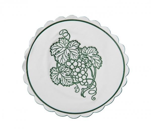 Weinglasuntersetzer dunkelgrün d: 105 mm