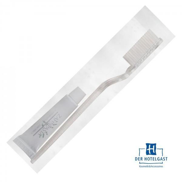 Hotel Zahnbürste mit Zahnpasta 5g