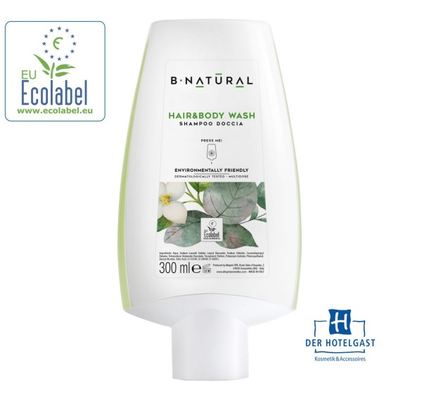 Hair & Body Shampoo 300ml »B•NATURAL« Spenderflasche
