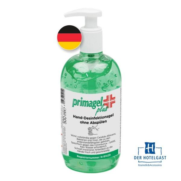 Hotel Desinfektionsgel 500ml PrimaGel Plus Spenderflasche