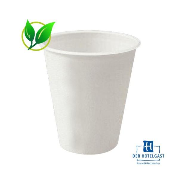 BIO Zahnputzbecher 0,2 l weiß • 100% kompostierbar