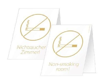 """Aufsteller """"Nichtraucher Zimmer"""""""