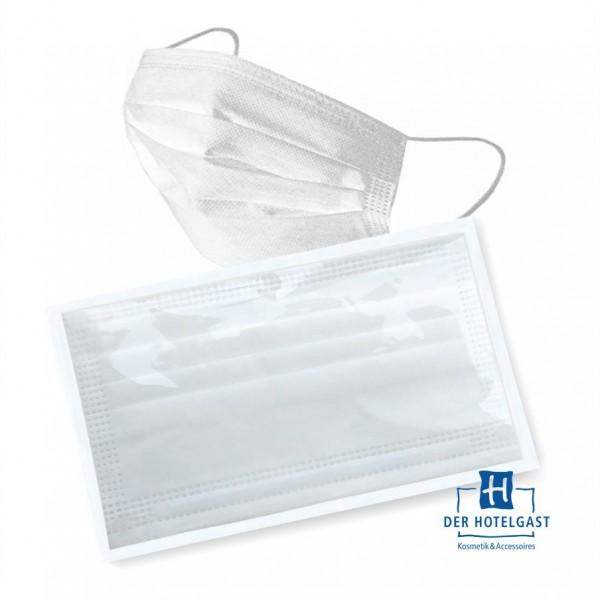 Hotel Mundschutz »einzeln verpackt« 3-lagig aus Vlies weiß