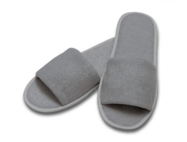 Frottee-Slipper grau
