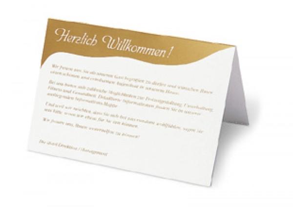 """Aufsteller """"Herzlich Willkommen"""""""
