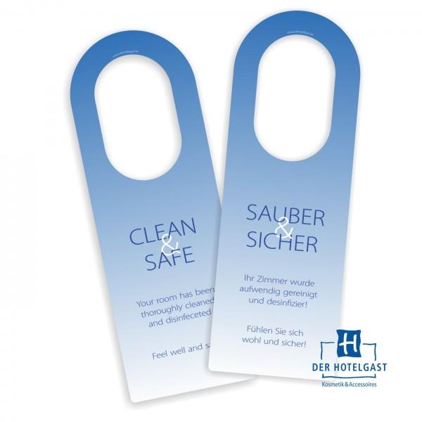 Hotel Türhängeschild »sauber&sicher« »clean&safe«