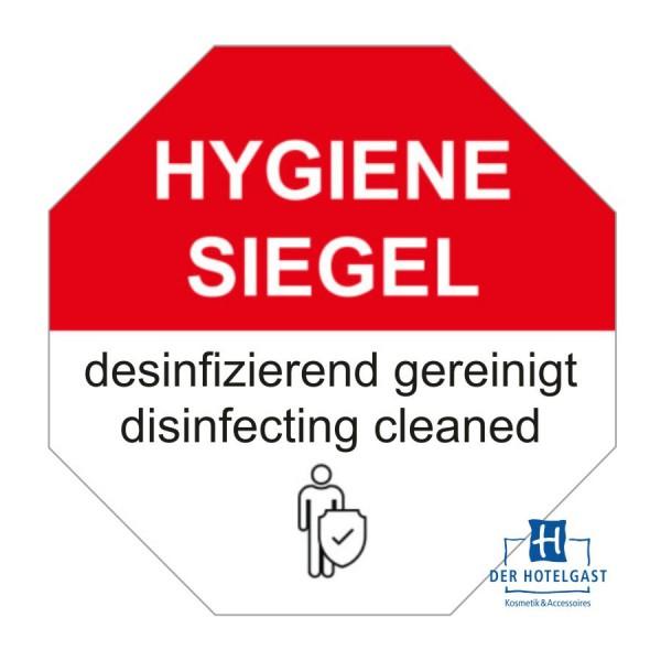 Hotel Hygienesiegel selbstklebend B1 rot/weiß