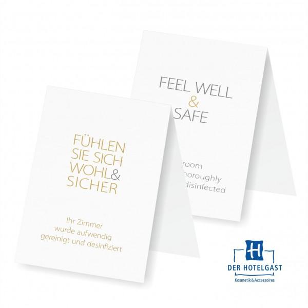 Hotel Aufsteller »Fühlen Sie sich wohl & sicher«