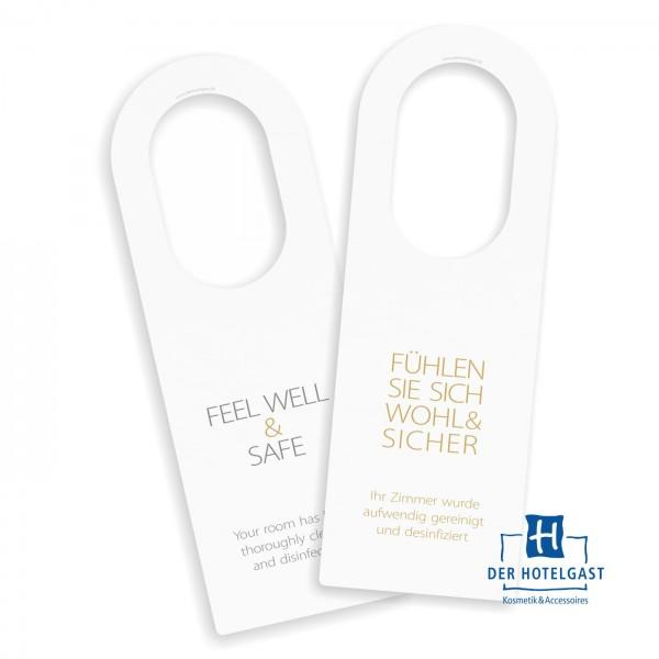 Hotel Türhängeschild »feel&well« »sauber&sicher«