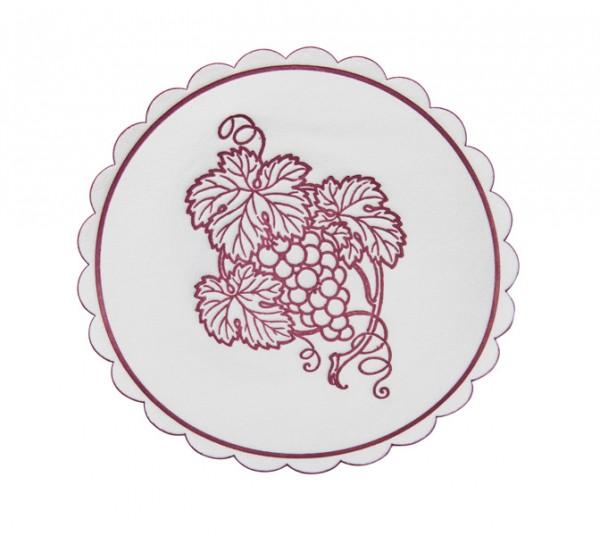 Weinglasuntersetzer bordeaux, Durchmesser: 105mm