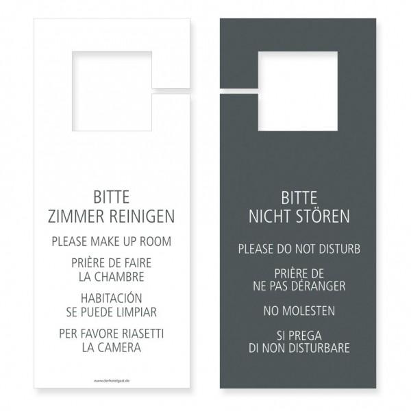 Türhängeschild »Bitte nicht stören / Bitte Zimmer reinigen« Standard Grau