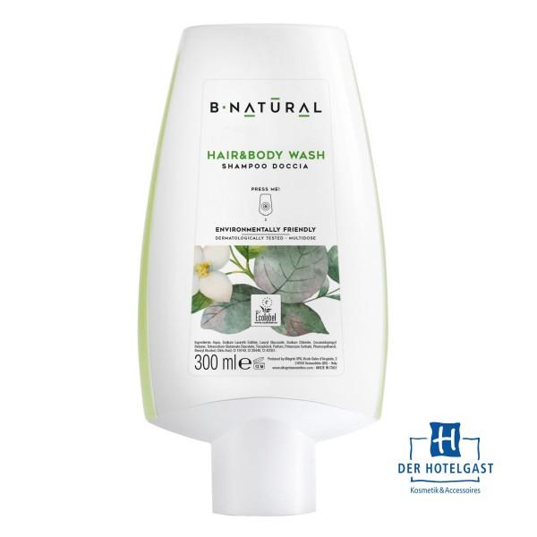 B-NATURAL Body&Hair 300ml Spenderflasche
