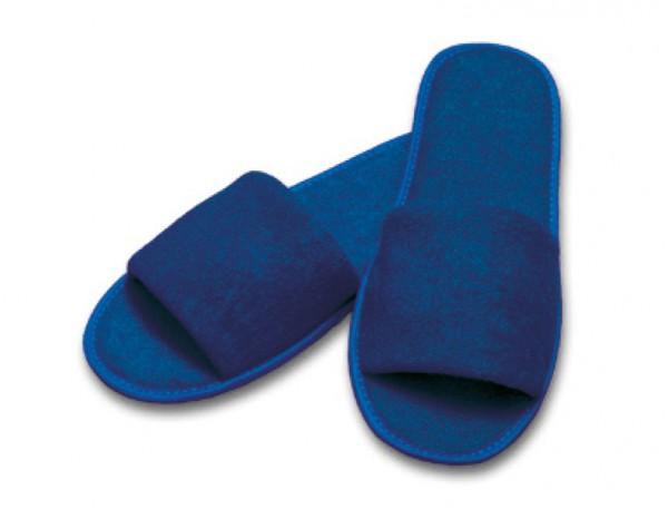 Frottee-Slipper blau