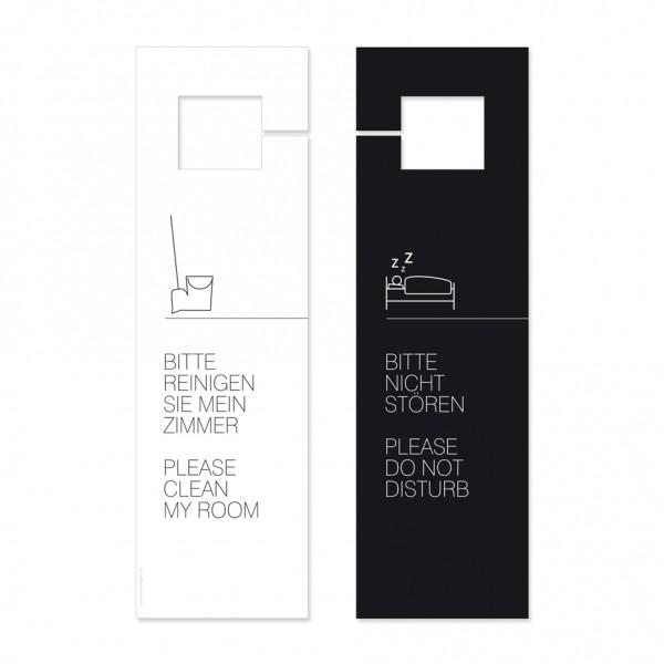 "Türhängeschild ""Zimmer reinigen / Bitte nicht stören"""